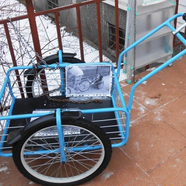 Как сделать тачку для велосипеда