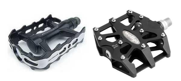 Строение велосипедных педалей, их виды