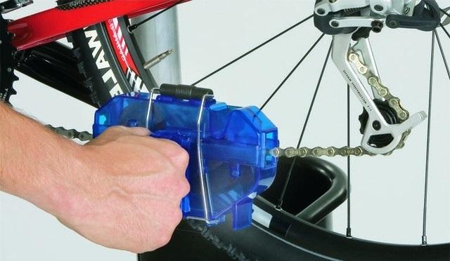 Чистка вело-цепи