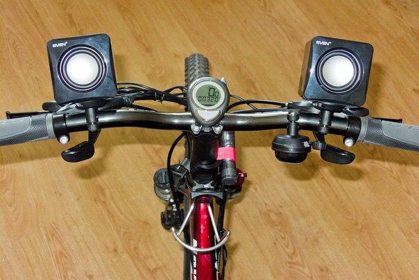 Колонки для велосипеда своими руками