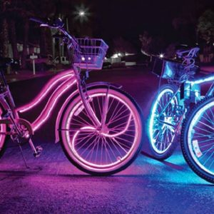 LED-strip-on-a-bicycle